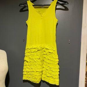 Crew Cuts Tank Dress Yellow Ruffly Girls 14 Summer
